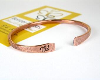 Butterfly Bangle Bracelet - Copper Bracelet - Bracelets for Women - Copper Butterfly Bracelet - Copper Patina - Butterfly Jewelry