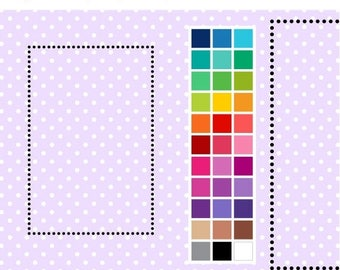 40% OFF SALE Dotty Rectangle Digital Borders - Clip Art Frames - Instant Download - Commercial Use