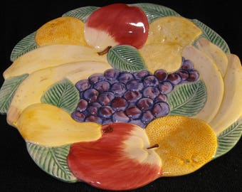 Fitz and Floyd Calypso Fruit Plate