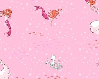 Best of Sarah Jane Pink Mermaid DC5630-PINK-D by Michael Miller Fabrics