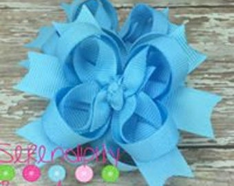 Baby Blue Boutique Hair Bows, Light Blue Hair Bows, Boutique Hair Bows, Mini Hair Bows, Girl's Hair Bows, Piggy Tail Bows, Bows For Girls