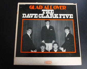 The Dave Clark Five Glad All Over Vinyl Record LP LN 24093 Epic Records 1964