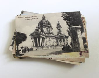 50 Vintage Italy Unused Postcards Blank - Unique Travel Wedding Guest Book, Reception Decor, Travel Journal Supplies