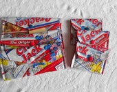 RESERVED Recycled Large OR Small Cracker Jack Recycled Wrapper Wallet -Make-up Bag -Pencil Pouch -Eye Glass Case or Cosmetic Bag