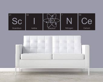 Custom for Alexa- Science CUSTOMIZABLE wall decal Periodic Table elements Classroom