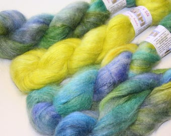 SilKiMo fine kid silk laceweight yarn - help support the Orange Bellied Parrot