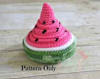 Crochet Pattern, Watermelon Nesting Bowls