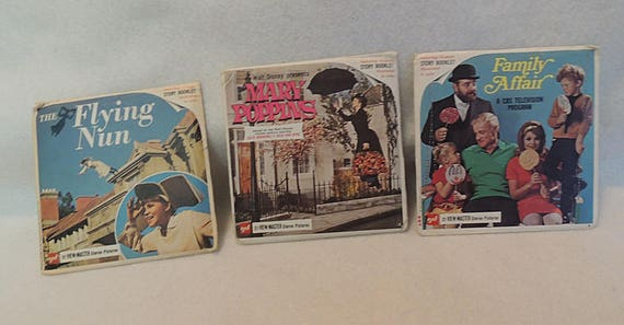 Vintage Lot View Master Reels.. Mary Poppins, Flying Nun, Family Affair & More