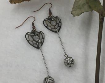 SJ Heart Dangle Earrings