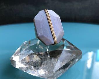 Moonstone Statement Ring, Silver flash moonstone