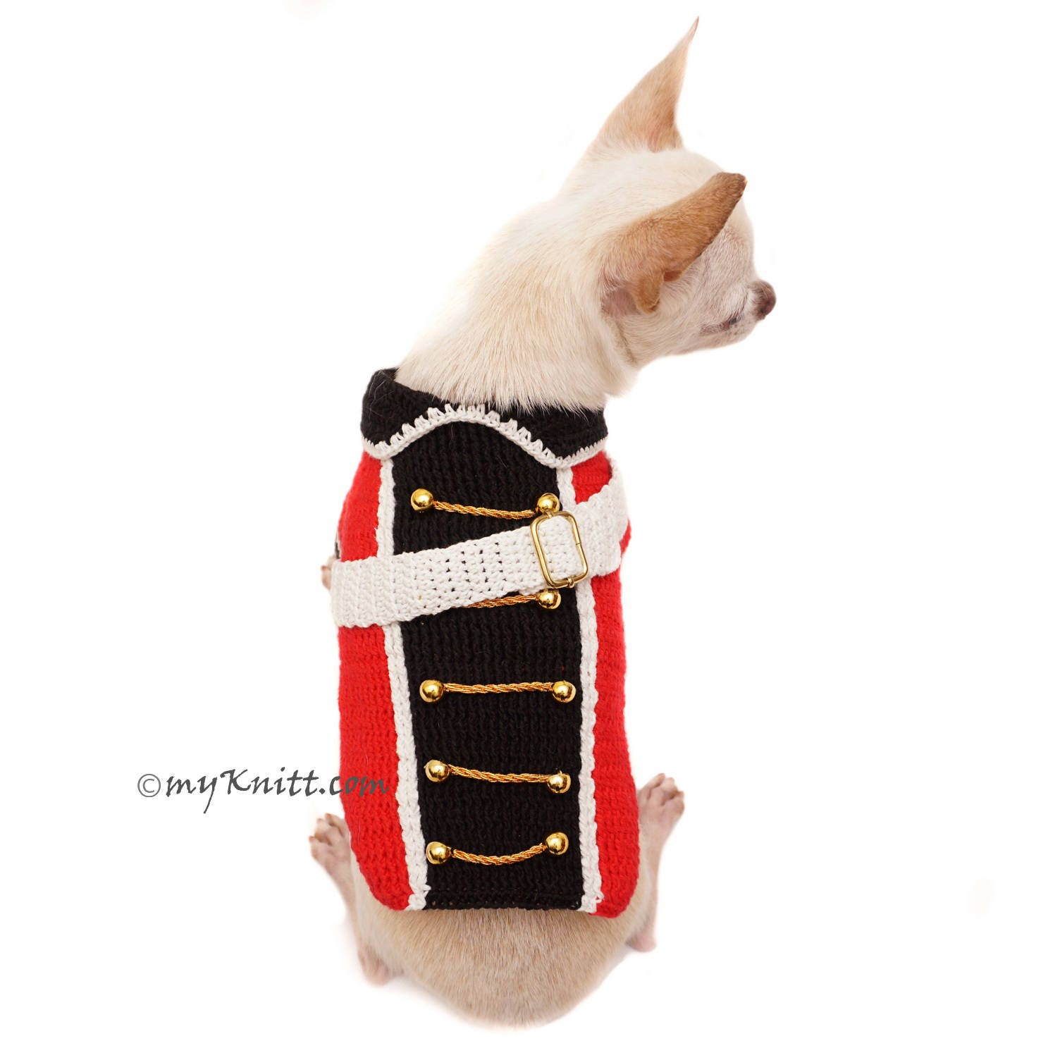 British Red Coat Army Dog Costume, Funny Pet Costume, Chihuahua ...