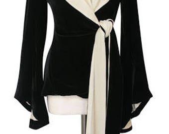 Trashy Diva black Velvet Garbo Jacket Wrap