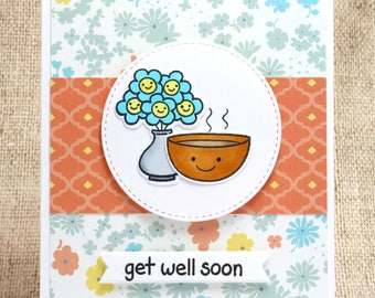 Get Well Card- Get Well Soon Card- Feel Better Soon- Cute Get Well Card