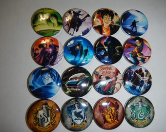 16 Harry Character Pinback Button Shower Goody Gift Treat  Party Favors Brooches