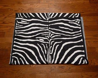 "vintage 60s zebra print fabric dress drapes sewing material mod mid century modern 1960 cotton fabric 43"" 3.5 yards 3 1/2 yds"
