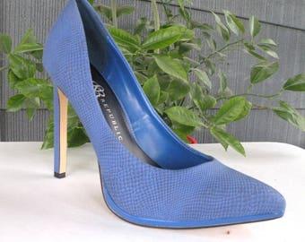 Navy Blue High Heel Pumps NAVY Stilettos Navy Blue Wedding Shoes Sexy Fetish Heels Size 8 Navy Shoes Slip On Navy Blue 5 inch Heels