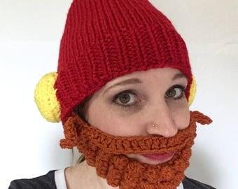 Yukon Cornelius knit character adult hat / READY TO SHIP / Christmas Hat