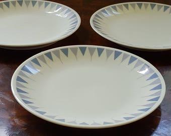 Rare! 1950s Mid Century Modern Impromtu Pyramids by Ben Seibel for Iroquois True China Bread & Butter Plate
