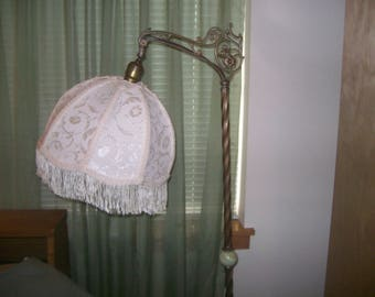 Beautiful New Cream/Ivory Brocade Lamp Shade for Bridge Lamp