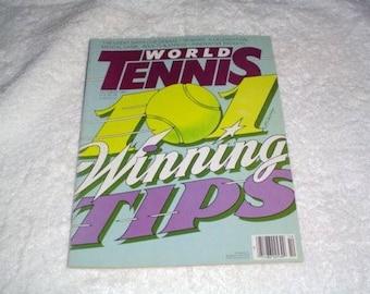 World Tennis Magazine October 1987 Winning Tips issue