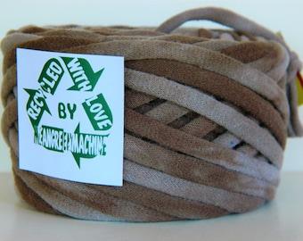 Recycled T Shirt Yarn, Brown Tie Dye 33 Yards, T- Shirt Yarn, Tarn