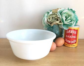 "1950's Hazel Atlas ""Platonite"" Bright White Mixing Bowl"