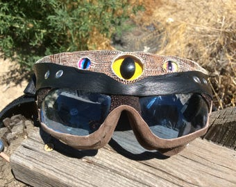 Monster mind: new and improved leather goggles