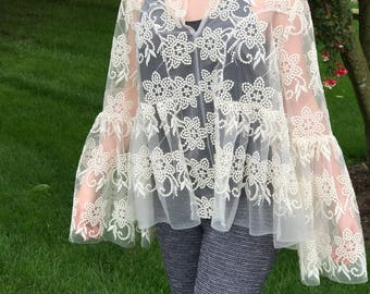 Boho Chic Lace Top On Sale