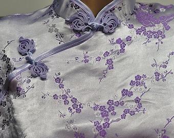 Chinese  Dress Satin Brocade Cheongsam Dress  #416