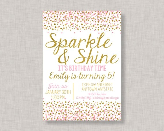 Sparkle and shine invitation sparkle and shine invite confetti il570xn filmwisefo