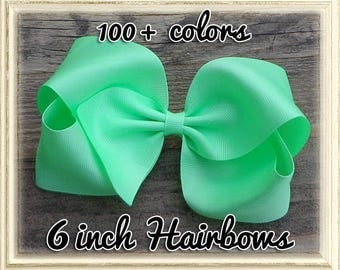 BIG Boutique Hair Bows for Girls~Easter/Spring Hair Bows~Solid Color Hair Bows~Hairbows~Texas Size Hair Bow~Girls Hair Bows~Huge Hair Bows~