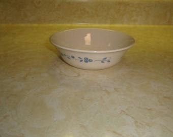 3 vintage corelle soup cereal bowls blueberry bouquet