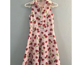 Cutest Vintage Strawberry Dress