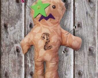 Voodoo Doll, Poppet, Pin Cushion, Juju, Horror, Creepy, Rag Doll, upcycled, Art Doll, Gothic, Punk, Alternative, Apocalypse, witchcraft