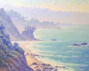 El Pescador Morning, Malibu, California Original Seascape Oil Painting
