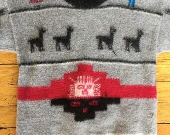 Vintage Alpaca wool sweater Peru