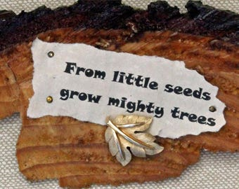Wooden quote plaque, wood wall art, natural wood art, wall hanging, tree quote, collectible art