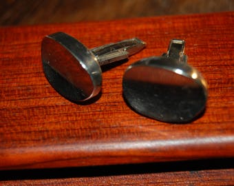 Taxco Mexico Sterling Silver Cuff Links Sterling Silver French Cuff Cuff Links Taxco 1960's