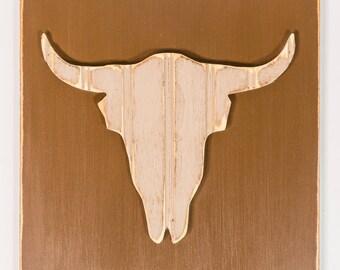 Steer, Wooden Wall Art, Distressed Southwestern Wall Art