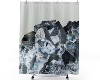 Crystal Gemstone Pattern Shower Curtain