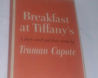 Book First Edition 8th Printing Truman Capote Breakfast at Tiffanys 1958 Dust Cover