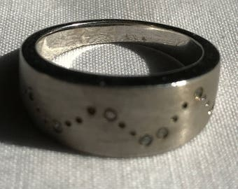 Sterling Silver Man's Band Ring-Size 10