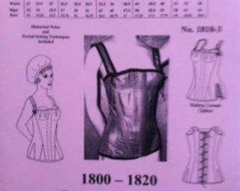 1800 to 1820 Regency Corset Pattern by Mantua Maker