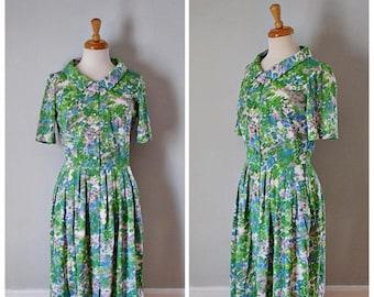 ON SALE Vintage 60s Shelton Stroller Shirtwaist Day Dress