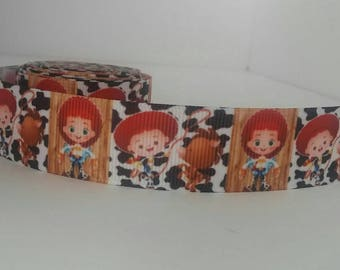 7/8 inch Adorable Jessie from Disney's Toy Story Grossgrain Ribbon 5 Yards