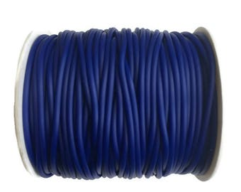 2mm Blue Hollow Rubber tubing rubber cord S 40 231