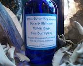 White Sage Smudge Spray 4oz 2oz ~ Herbal Infusion Gemstones Included ~ Lavender Amethyst Spray ~ Serene Senses Calm Temple Spray