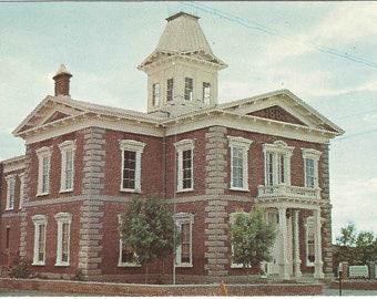 The Original Cochise County Courthouse Tombstone Arizona Street Scene 1950s Vintage Postcard