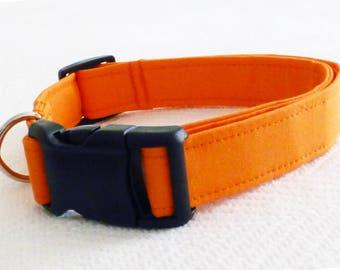 Dog Collar Solid, Solid Dog Collar, Solid Pet Collar, Solid Color Pet Collar, Solid Color Dog Collars, Orange Dog Collar, Girl Pet Collar
