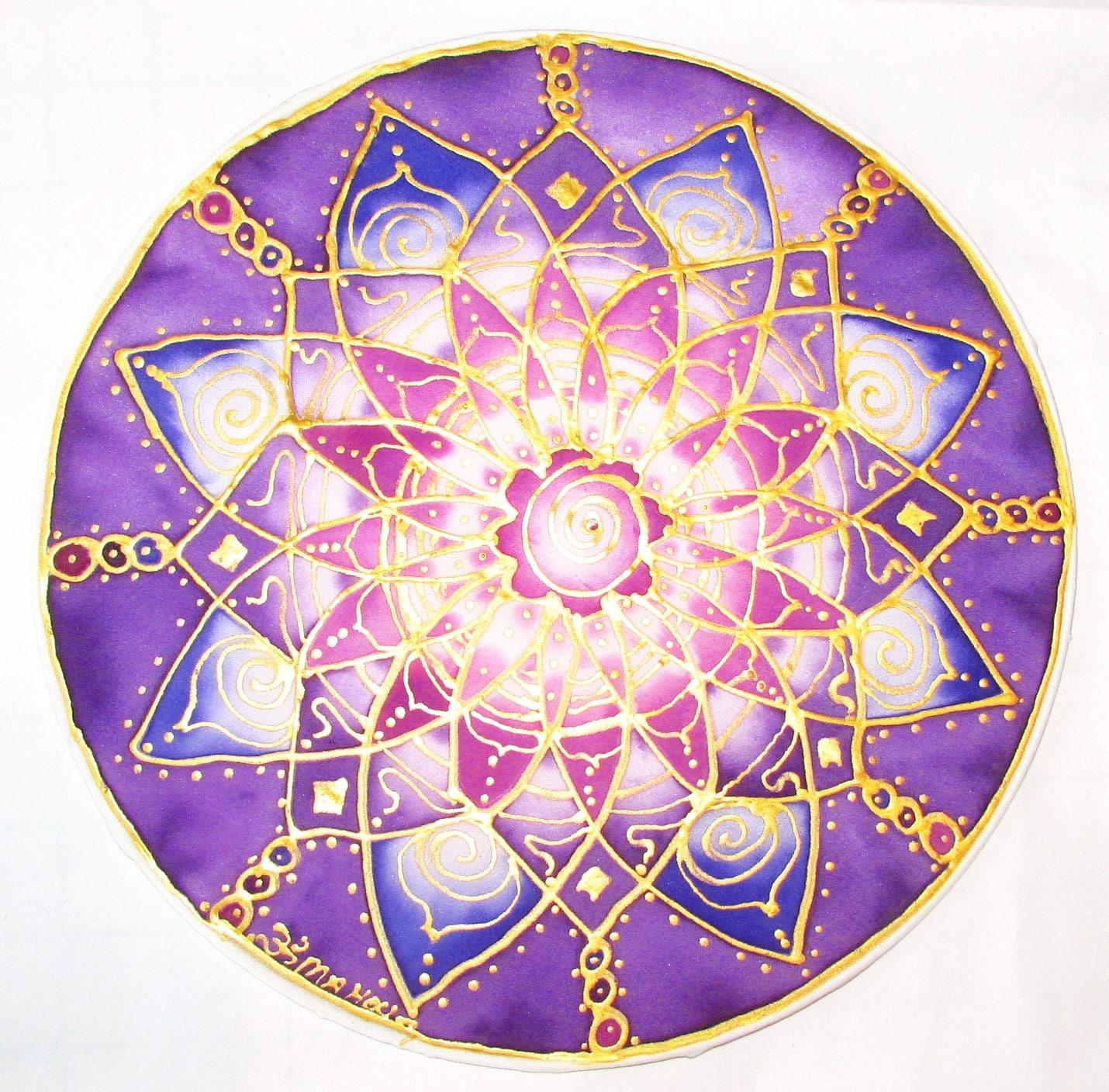 Purple chakra mandala artspiritual gift Crown Chakra